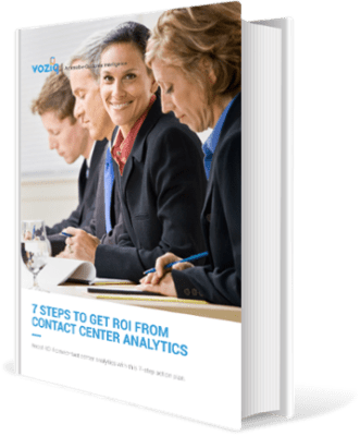 Improve ROI from Contact Center Analytics